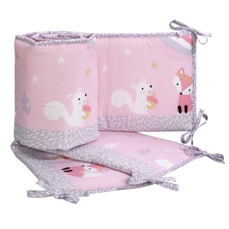 Bedtime Originals Rainbow Unicorn 4-Piece Crib Bumper - Pink, Purple, Animals