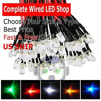 1.8mm 2mm 3mm 5mm 8mm 10mm Pre Wired Led Dc9-12v Lights Emitting Diodes