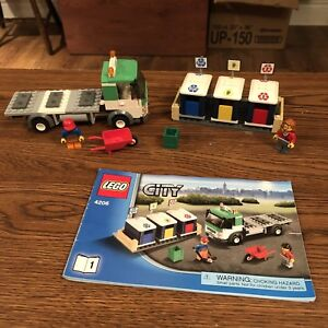Lego City - Recycling Truck with Forklift Set 4206 EUC