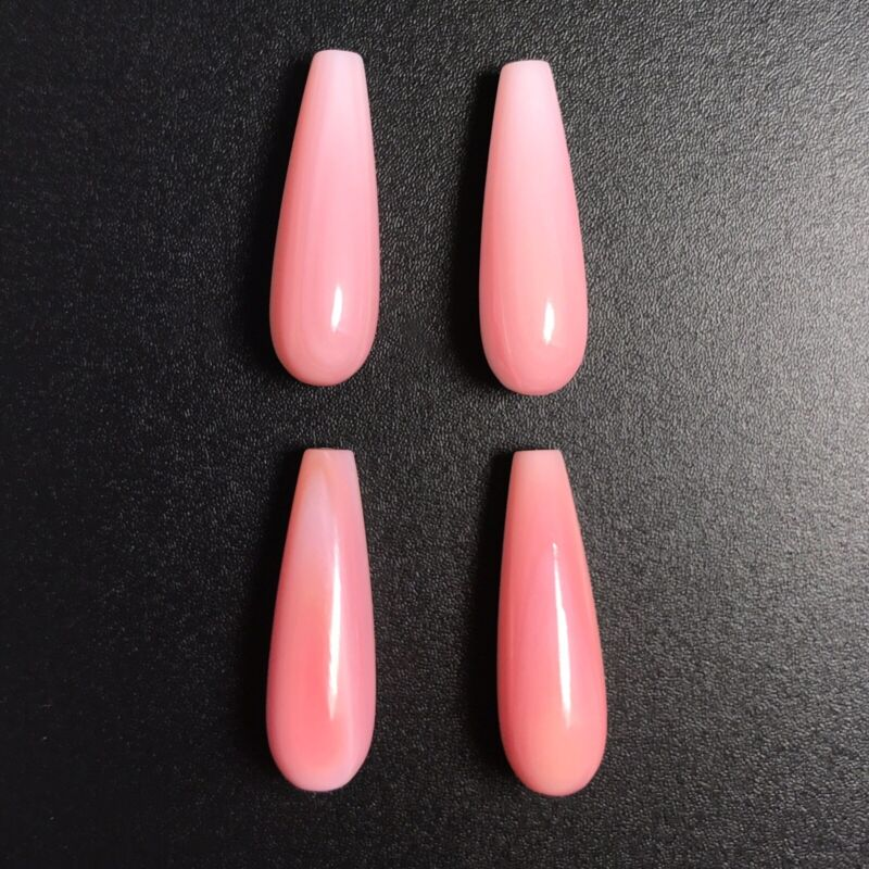2PC Natural Pink Queen Conch Shell 8x25mm Drop - NEW DIY Bead Design Wholesale
