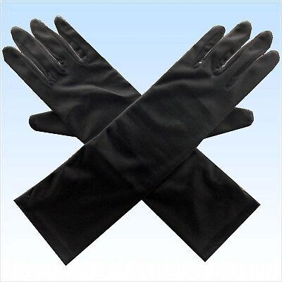 Schwarze Lange Handschuh (Schwarze lange Handschuhe Handschuh schwarz Fingerhandschuhe Herren Damen)
