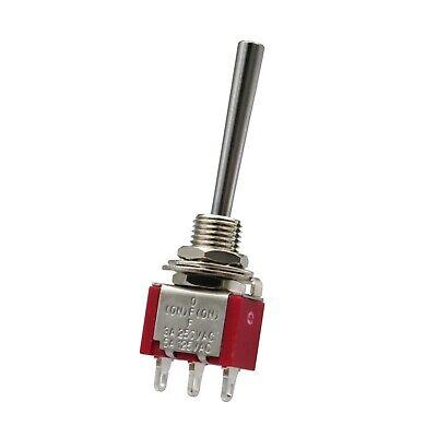 2pcs Sh T8014a-webq Long Handle Momentary Mini Toggle Switch 3pin Spdt