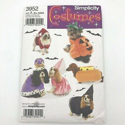 Simplicity 3952 Small Dog Halloween Christmas Santa Pet Costume Pattern PT2