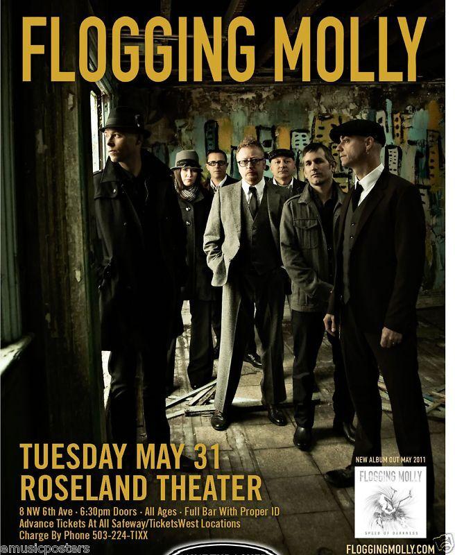 FLOGGING MOLLY 2011 CONCERT TOUR POSTER - CELTIC PUNK