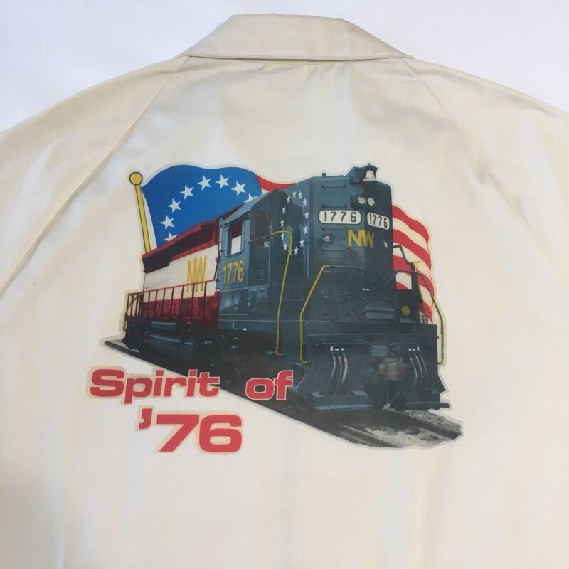 Vintage Spirit of 76 NW 1776 Bicentennial Railroad Train Locomotive Jacket XL