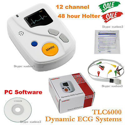 Portable Tlc6000 Dynamic Ecg Systems 12 Channel 48hour Holterpc Softwarecehot