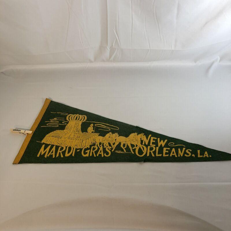 Vintage Mardi Gras Pennant - New Orleans - Older Piece