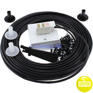 25m black bt telephone plug broadband external extension. Black Bedroom Furniture Sets. Home Design Ideas