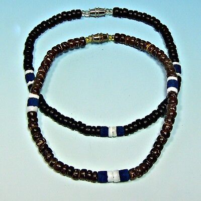 Sup Surfer Girl Puka Shell Anklet Surf Surfing Beach 9 Inch Black Or Brown Coco