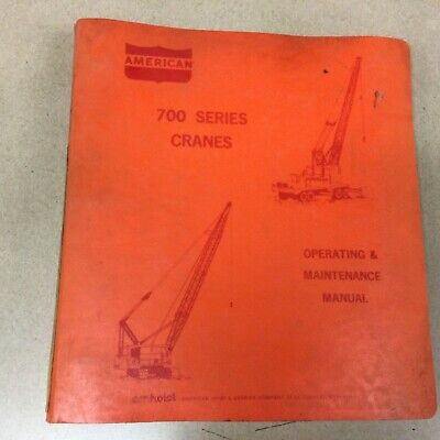 American 700 Truck Crane Operation Maintenance Manual Guide Book 7260 Carrier