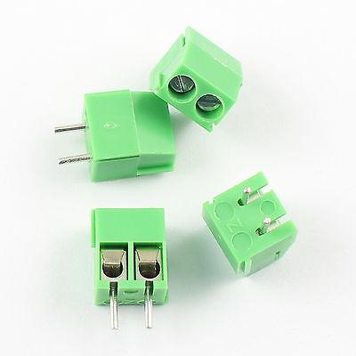 100pcs 3.5mm Pitch 2 Pin 2 Way Straight Pin Pcb Screw Terminal Block Connector
