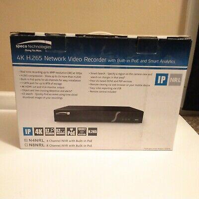 Speco N4nrl1tb Nrl Series 4k Network Video Recorder 4 Ch 2 Tb