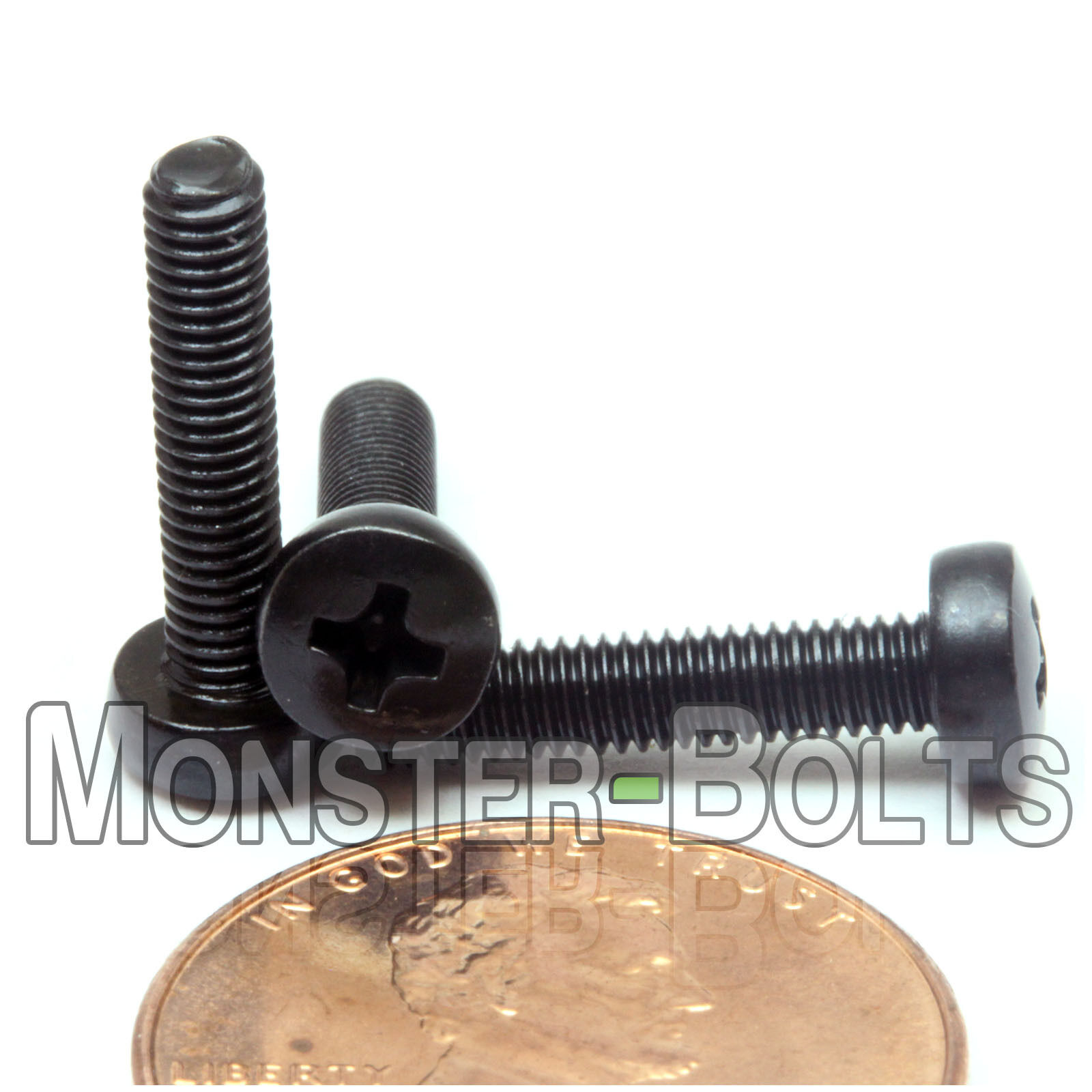 M5 x 16mm Qty 50 Black Steel Phillips Pan Head Machine Screws DIN 7985 A