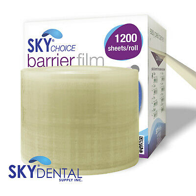 1200 Perforated 4x6 Dental Barrier Film Roll Plastic Sheets Clear