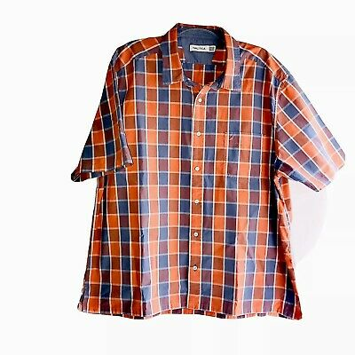 Nautica Mens Short Sleeve Button Down Cotton Checks Shirt Top Size 3XL