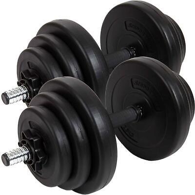ScSPORTS® Hantelset 20 kg Kurzhanteln Hanteln Set Gewichte Hantelscheiben 30 mm