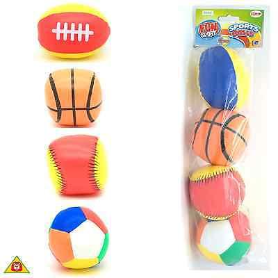 - HTI Fun Sport -- 4 Pack of Soft Mini Sports Balls -- #5S3 -- Age 12 Months+