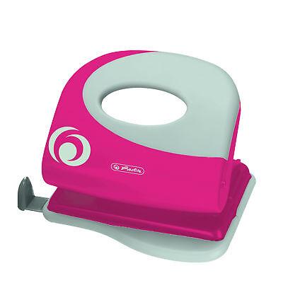 """Herlitz Bürolocher / mit Ansatzschiene / Farbe: """"cool pink"""""""