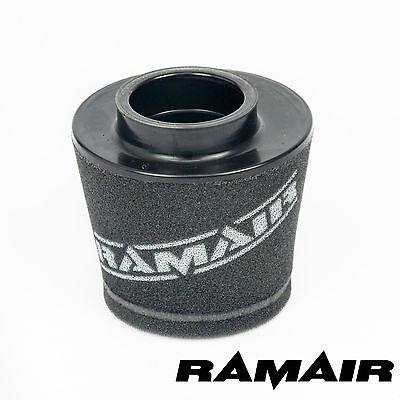 RAMAIR INDUCTION FOAM CONE AIR FILTER UNIVERSAL 60mm OFFSET NECK - 92mm TALL