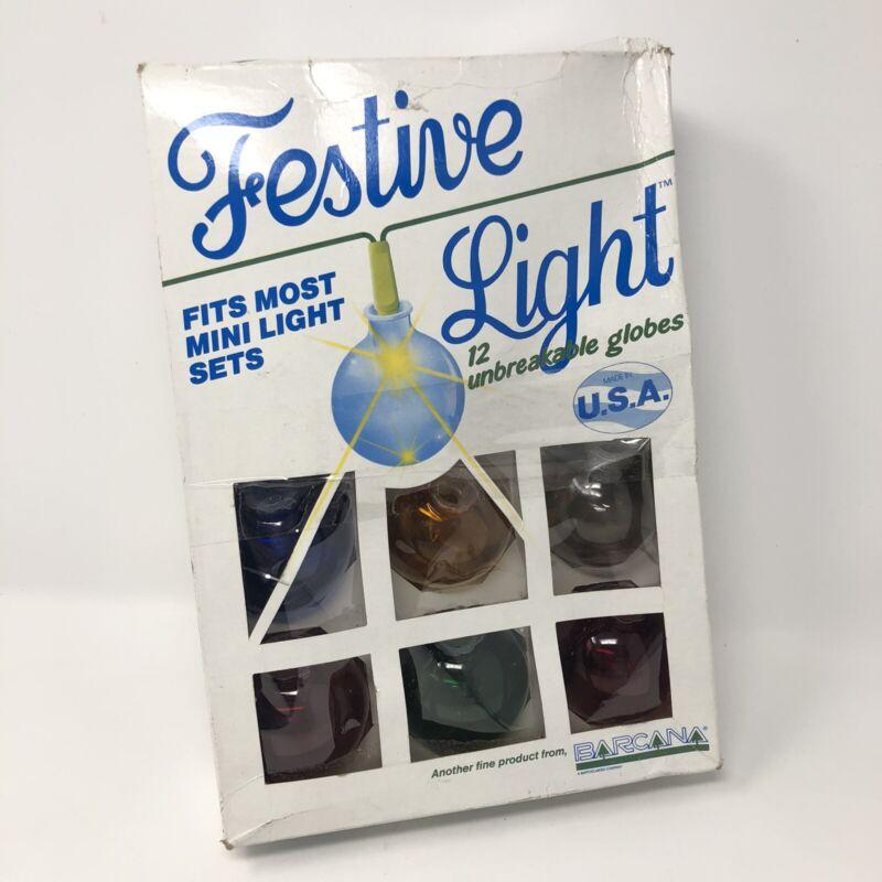 12 Barcana Ball Globe Festive Light Covers Christmas Unbreakable USA Vintage