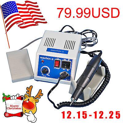 Usa Marathon Lab Micromotor Polisher Electric Motor N335k 35000 Rpm Handpiece