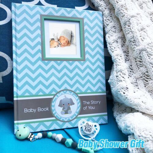 Baby Boy Memory Book First Year Album Journal baby shower gift Keepsake Mileston