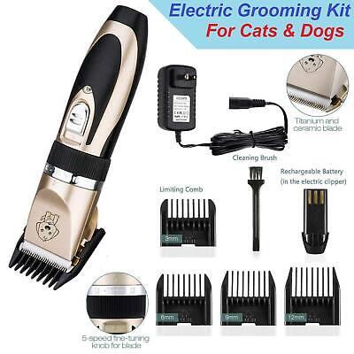 NEW Electric Animal Pet Dog Cat Hair Trimmer Shaver Razor Grooming Quiet (Grooming Razor)