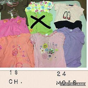 Vêtements bébé fille 24 mois