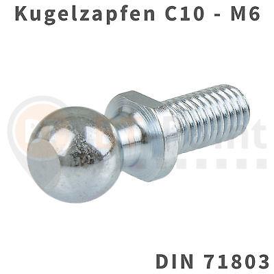 Winkel Ball (Kugelzapfen 10mm M6 DIN 71803 Kugelkopf Kugel Zapfen Kopf Gasfeder Audi Opel VW)