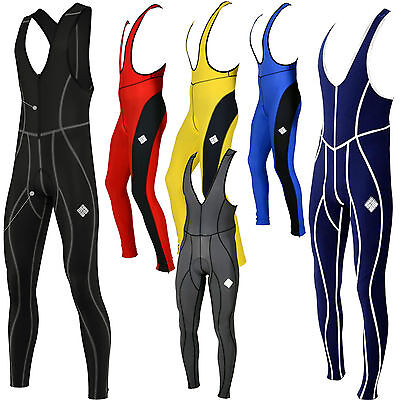 SHADOW CYCLING BIB TIGHTS Mens Winter Thermal Cycle Padded compression (AA)