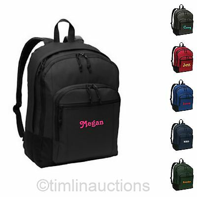 Personalized Monogrammed Laptop Back to School Backpack Book Bag Boys / Girls - Personalized Bookbag