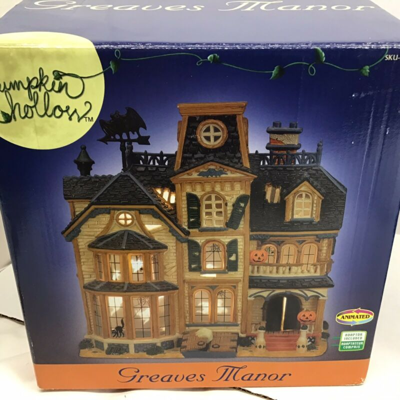 Lemax  Greaves Manor Halloween Pumpkin Hollow Haunted House 2005 Lights DONTwork