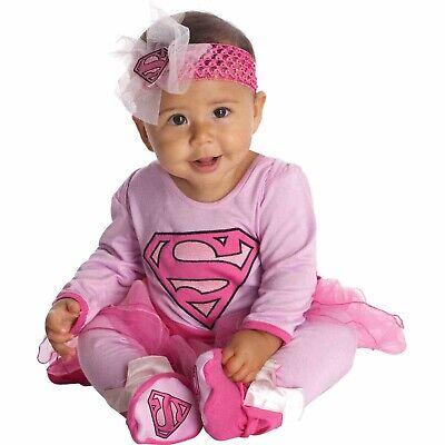 Rubies Supergirl Infant Halloween Costume (DC Comics Supergirl Infant Tutu Halloween Costume Size 0-6)