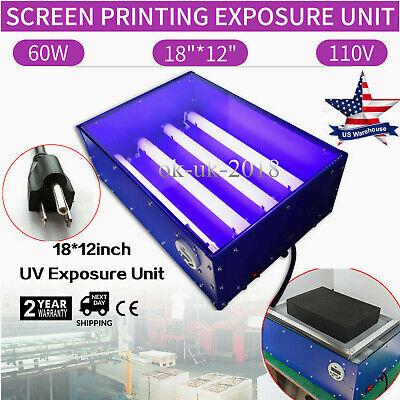 18x12 Uv Exposure Unit Screen Printing Plate Making Machine Diy Light Box 110v
