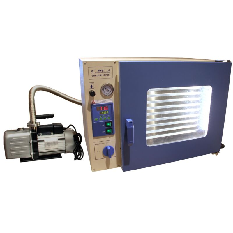 HFS(R) 1.9 Cuft Stainless Vacuum Oven - 10 Shelves, Led Lights, Vac Pump & Hose