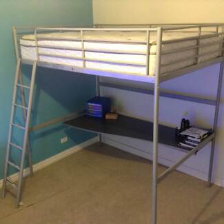 Double size bunk bed with desk underneath East Kurrajong Hawkesbury Area Preview