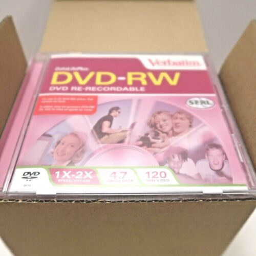 NWB 10 Discs/bx DVD-RW Re-Recordable Discs 1X-2X 4.7GB Data Business Video