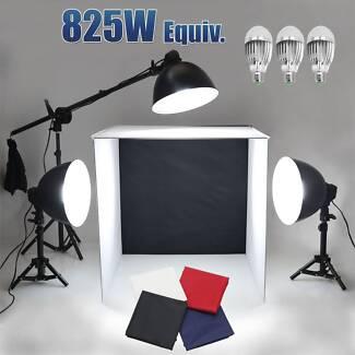 Photo Soft Light Tent Cube Box LED Lamp Bulb Stand 60cm Backdrop Croydon Burwood Area Preview