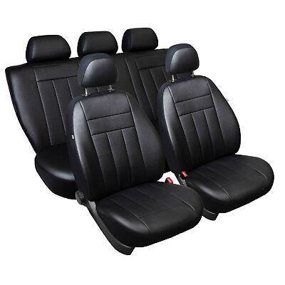 Mercedes W116 Maßgefertigte Kunstleder Sitzbezüge Schwarz