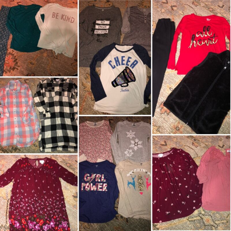 Girls Large LOT size Large L 10/12 Outfits Clothes Old Navy Justice Leggings