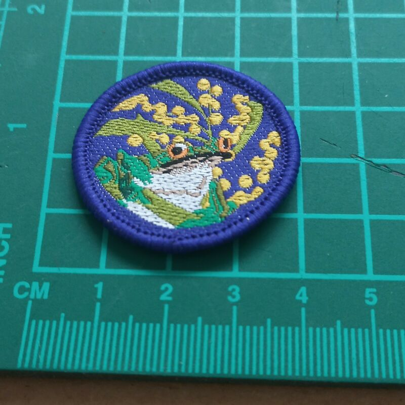 Old System Scouts Australia Target Badge - Nature Blue
