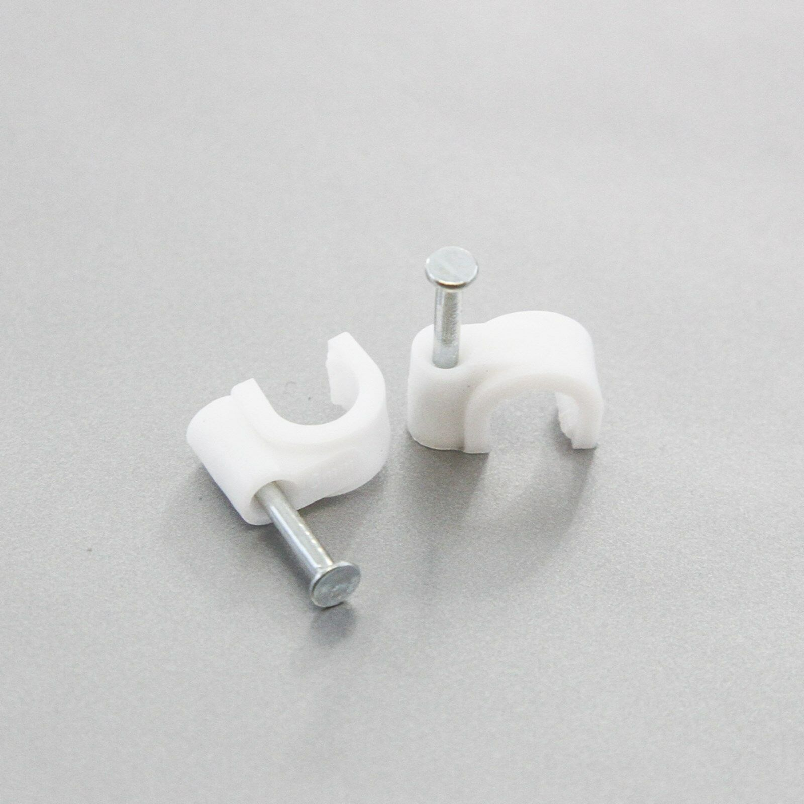 100PCS White Nylon Cable Clamp Clip UV Resistant Wire Electrical Hose Loop TB