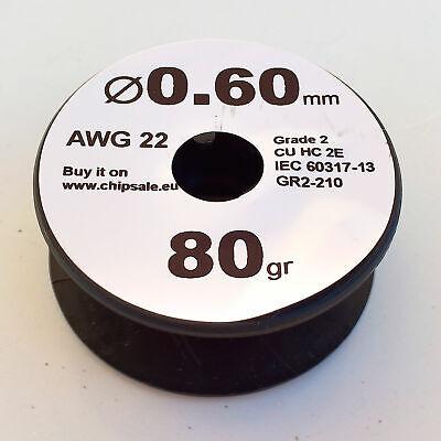 0.6 Mm 22 Awg Gauge 80 Gr 30 M 2.8 Oz Magnet Wire Enameled Copper Coil