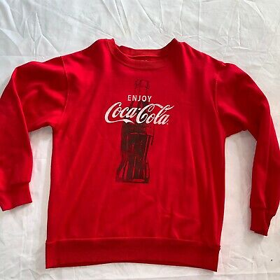 Enjoy Coca-cola Coke sweatshirt Red Medium 60/40