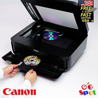 Canon Wireless Inkjet All-In-One Photo Scanner Copier Printer-Printable CD DVD