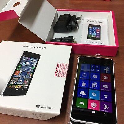 NEW IN BOX Microsoft Lumia 640 8GB White T-Mobile Smartphone Windows 8.1 4G LTE