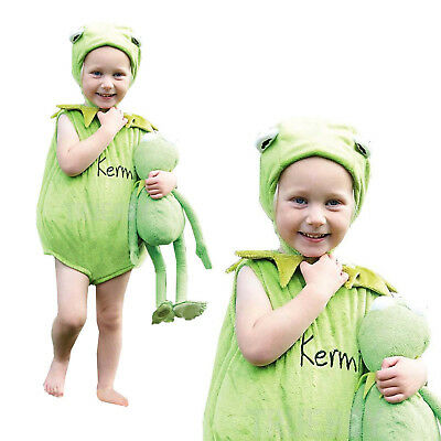 Disney Baby Childs Licensed Kermit The Frog Tabard Infant Fancy Dress Costume