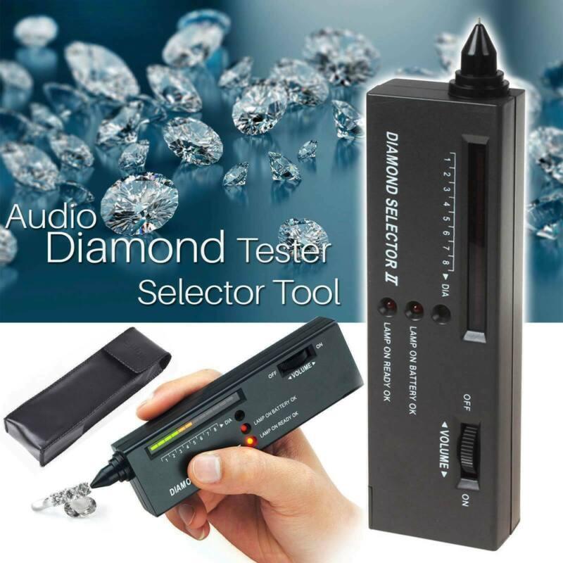 New Diamond Tester Jewelry Selector Gemstone Tool Gems Test LED Audio Checker US