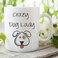 Crazy Cane Lady Tazza Carino Amanti Dei Cani Best Friend Compleanno Stampato -  - ebay.it