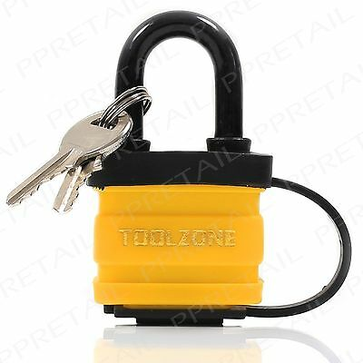 40mm HEAVY DUTY Waterproof Security Padlock  Strong Steel Door Boat Gate Lock